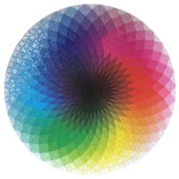 Round Rainbow Puzzle Gift For Lovers Of Difficult Jigsaw Puzzles