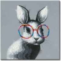 Bunny Decorations For Gifts Glasses Painting